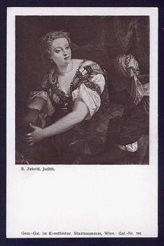 Judith Vintage religious postcard Giovanni Battista Zelotti