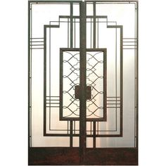 Art Deco Iron Doors attributed to Raymond Subes at 1stdibs ❤ liked on Polyvore