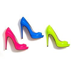 Prada neon shoes!