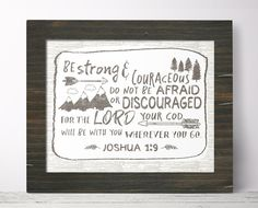 Strong And Courageous  Joshua 1 9 Digital Download by Sweetface & Co