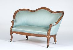 Eggshell blue couch