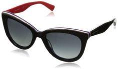 #saucy D&G Dolce & Gabbana Women's 0DG4207 Cat-Eye Polarized Sunglasses,Black on Red,55 mm