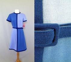1960s Mod Dress  R & K Knit Dress  Blue Color by ManicVintage, $85.00/I WANT THIS BAD