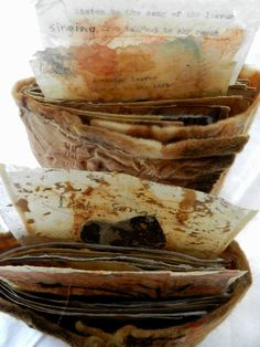 Leaf songs 8 by Elizabeth Bunsen Book Art, Artist's Book, Journaling, Tea Bag Art, Journal Paper, Art Journals, Handmade Books, Art Journal Inspiration, How To Make Paper
