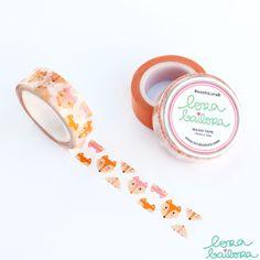 Lora Bailora Foxes Washi Tape - Washi Tape - Lora Bailora - Orchids and Hummingbirds Designs, LLC