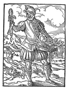 1568 German: The peddler from the Book of Trades, Frankfurt by Jost Amman