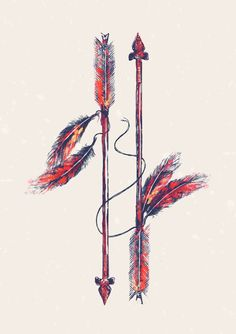 Poster   INDIAN ARROW von Budi Kwan   more posters at http://moreposter.de