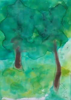 upon the time in forest 3 / Watercolor, paper