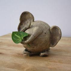 Ceramic Elephant- Handmade Clay elephant- Elephant Figurine- Animal- Whimsical Art- Elephant Sculpture with Sgraffito Design