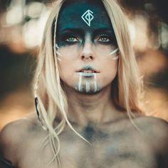 Halloween Makeup m&m halloween costume makeup Cosplay Makeup, Costume Makeup, Krieger Make-up, Viking Makeup, Warrior Makeup, Tribal Makeup, Halloween Costumes, Halloween Face Makeup, Halloween Halloween