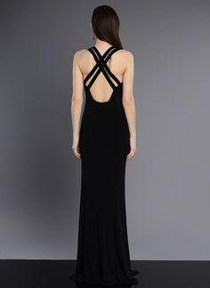 Schwarze Lange Abendkleid Cocktailkleid rückenfrei sexy Designer Kleid/ 40