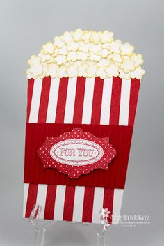 North Shore Stamper: A DOUBLE CASE  Popcorn tub gift card holder!