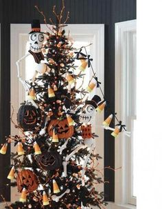 Chic Halloween Vtg Black Tinsel 2 ft Feather Ornament Tree Table Top Decor | eBay