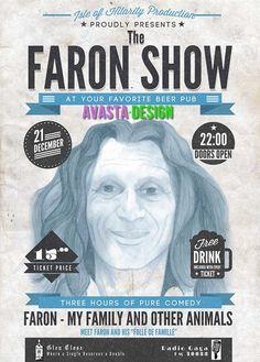 Faron Cemedy Drink Ticket, Portfolio Design, Flyers, Comedy, Pure Products, Movie Posters, Portfolio Design Layouts, Ruffles, Film Poster
