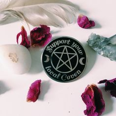 """etsycult: """" Support Your Local Coven Enamel Pin by SHOPBABECOVEN """""""
