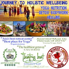 3 spots left on The Journey to Holistic Wellbeing Bali Retreat. http://balifloatingleaf.com/holistic-wellbeing-best-retreat/ Each participant receives group and private sessions with exceptional practitioners in the areas of…  #Yoga #Meditation #Chiropractic #Balinese #Jamu /  #Herbal #Remedies #CranioSacral #Therapy #Anatomy and #Physiology for Yoga #Nutritional Therapy Applied #Kinesiology #Massage #Traditional Balinese #Healing #Spa Therapy #Naturopathy #Nutrition