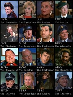 MBTI for Hogan's Heroes. (But I would switch Crittendon and Newkirk) Classic Tv, Classic Movies, Mbti, Isfj, Favorite Person, Favorite Tv Shows, Hero Tv, Hogans Heroes, Star Character