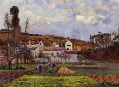 Kitchen Gardens at l'Hermitage, Pontoise, 1873 - Camille Pissarro