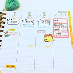 Eek!  This week's spread has a pop of colors AND stickers!  Shops tagged.