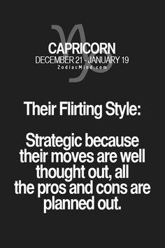 The sign's flirting style here Horoscope | Capricorn