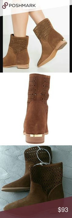 New Michael Kors Sunny Leather Suede Booties New Michael Kors Sunny Leather Suede Booties. Laser Cut Detailing. MICHAEL Michael Kors Shoes