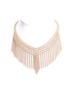 South Moon Under Chain & Fringe Choker Necklace | South Moon Under