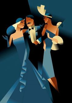 Art Deco Inspired Illustrations by Mads Berg Illustration inspired by Art Deco by Mads Berg Retro Poster, Poster Vintage, Vintage Art, Art Deco Illustration, Retro Kunst, Retro Art, Pinturas Art Deco, Art Deco Paintings, Art Deco Artwork