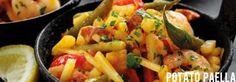 Recipe: Potato Paella Paella, Food And Drink, Potatoes, Fruit, Recipes, Potato, Recipies, Ripped Recipes, Cooking Recipes