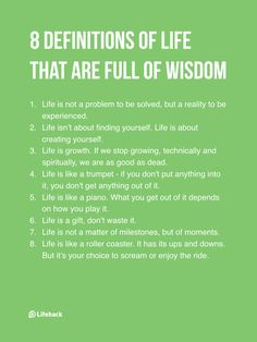 What does life mean to you?