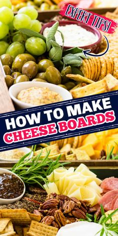 Need a killer cheese board? Check out my cheese board tutorial for your next party and feed a crowd of picky eaters! #CheeseBoard #CheeseBoardTips #Cheese #PartyTips #EasyEntertaining #EntertainingTips #tutorial #appetizers #Holiday Party Trays, Party Platters, How To Make Cheese, Food To Make, Appetizer Recipes, Appetizers, Easy Entertaining, Feeding A Crowd, Picky Eaters