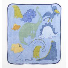 "Truly Scrumptious Dinosaur Tracks Soft and Cozy Blanket - Heidi Klum - Babies ""R"" Us"