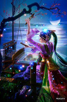 Weaver lady.  Love those colours!