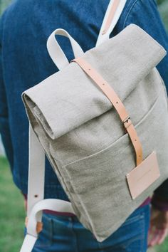 Top Roll Rucksack Raw Natural (Top Ideas Diy)