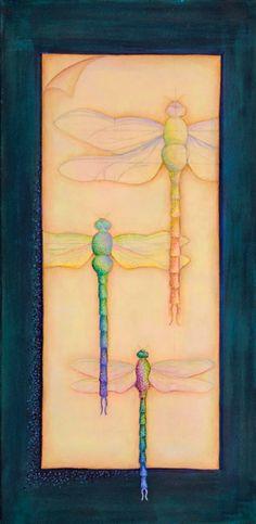 Khandro Sherab Breaking Free | Goldenstein Gallery, Sedona Dragonfly Art, Break Free, Modern Artists, Dots, Butterfly, Sedona Arizona, Dragonflies, Canvas, Gallery