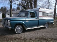 slick 60's f100 camper shell and grill guard