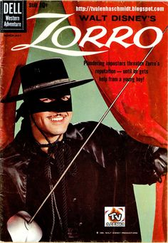 I was going to marry Zorro when I grew up. While I didn't marry Zorro, I do have a propensity to become involved with Latino men hence my Peruvian-American long-term boyfriend. -Watch Free Latest Movies Online on Photo Vintage, Vintage Tv, Great Tv Shows, Old Tv Shows, Comic Book Covers, Comic Books, Comic Movies, Mejores Series Tv, Nostalgia