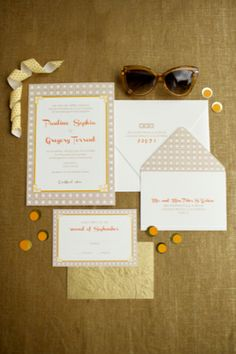 Destination wedding invitation suite | Anna Kim Photography | see more on http://burnettsboards.com/2014/02/stylish-honeymoon-looks/