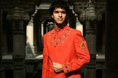Embroidered mens kurta by pooja doshi