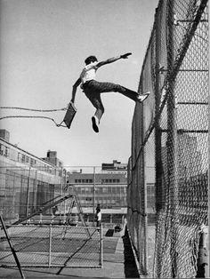 Leap of faith. Vintage New York City print.