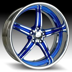 blue rims... nice lookin pair of shoes!