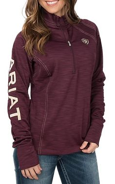 f886a80467 Ariat TEK Women s Conquest Burgundy Fleece Lined Pullover Jacket