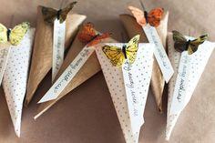 DIY Butterfly Rice Tosser by Posh Paperie + Jackie Wonders