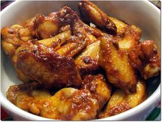 Sweet and Spicy Chicken Wings Recipe 甜辣鸡翼 Sweet And Spicy Chicken Wings Recipe, Easy Chicken Wing Recipes, Baked Chicken Strips, Chicken Wings Spicy, Honey Chicken, Drunken Chicken, Chicken Meals, South African Recipes, Appetizer Recipes