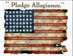 63fc30eeccf Pledge Allegiance Off-white T-shirt This classic patriotic shirt displays  the American flag with the pledge of allegiance artistically printed on the  ...