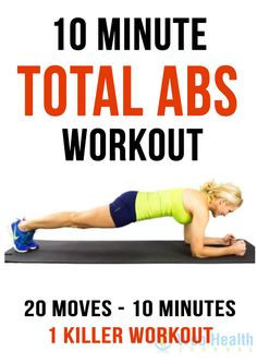 Total abs workout : #fitness #exercise #abs #slim #fit #beauty #health #workout #motivation #cardio #belly #woman-fitness #ab-workouts #ab-inspiration