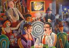 Founder of the Catholic Worker, Dorothy Day, and playwright Eugene O'Neill listening to the Hound of Heaven at a Greenwich Village bar. The Hound Of Heaven, Eugene O'neill, Dorothy Day, Religious Art, Catholic, Spirituality, Christian, Greenwich Village, Playwright