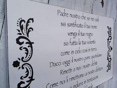 "Italian Baby nursery decor sign ""The Lord's Prayer"" in italian"