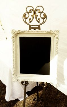 DIY Chalkboard Frame www.bellalimento.com