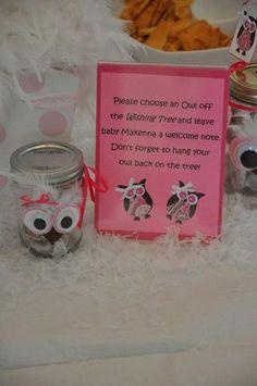 WINTER OWL BABY SHOWER FOR GIRLS