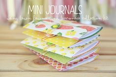 FLIP BOOK INSPIRATION - PHOTO TUTORIAL - Our friend Nicole has put together an awesome photo tutorial on how to make mini journals using Pink Lemonade papers.